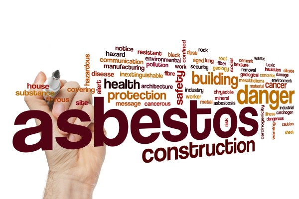 Asbestos word cloud concept